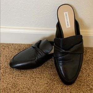 NWT Saks Leather Mules